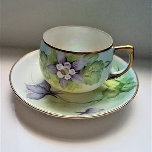 Antique Meito China Japan Tea Cup and Saucer Set